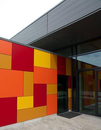 Trespa Wall Panel System : Novatech wall systems